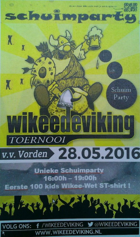 Wikee de Viking Schuimparty